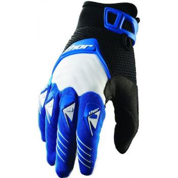 Перчатки Thor S12 Deflector Black-White-Blue 2XL