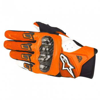 Мотоперчатки Alpinestars SMX-2 Air Carbon Orange-White XL