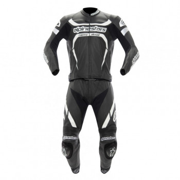 Мотокостюм Alpinestars MOTEGI 2PC Black-White 54