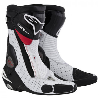 Мотоботы Alpinestars S-MX PLUS Black-White-Red 43
