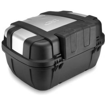 Мотокофр центральный/боковой GIVI Monokey Trekker TRK52N Black-Silver