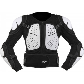Моточерепаха подростковая Alpinestars Bionic 2 Black-White M