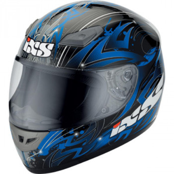 Мотошлем IXS HX 2400 Matt-Black-Blue 2XL