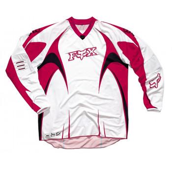 Кроссовая футболка (джерси) FOX SFX White-Red S