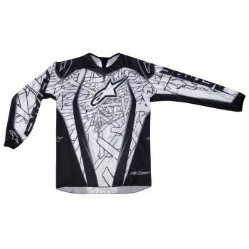 Кроссовая футболка (джерси) Alpinestars Charger (3761211) Black-White 2XL