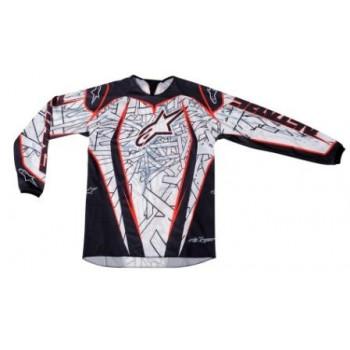 Кроссовая футболка (джерси) Alpinestars Charger (3761211) Black-Red S