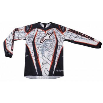 Кроссовая футболка (джерси) Alpinestars Charger (3761211) Black-Orange XL