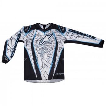 Кроссовая футболка (джерси) Alpinestars Charger (3761211) Black-Blue 2XL
