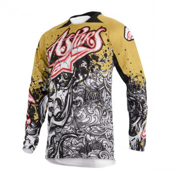 Кроссовая футболка (джерси) Alpinestars Charger (3761213) Black-White-Gold L