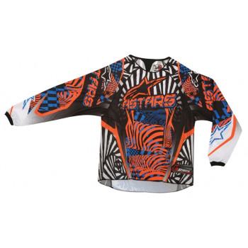 Кроссовая футболка (джерси) Alpinestars Charger (3761212) Black-Orange-Blue L