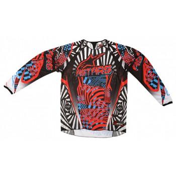 Кроссовая футболка (джерси) Alpinestars Charger (3761212) Red-Cyan-Black XL