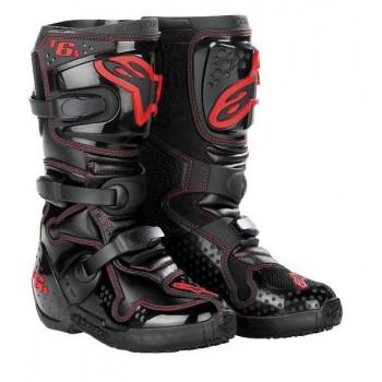 Мотоботы подростковые Alpinestars TECH 6 S Black-Red 8.0