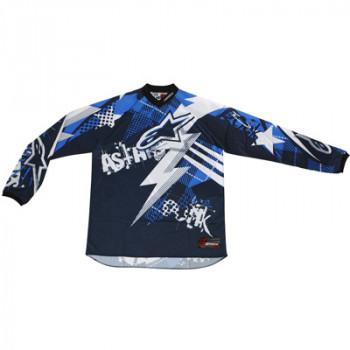 Кроссовая футболка (джерси) Alpinestars Charger Punk Blue-White-Black 2XL