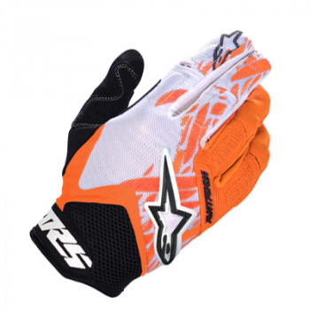 Мотоперчатки Alpinestars Racer Black-White-Orange XL