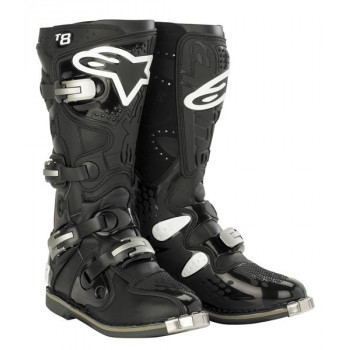 Мотоботы Alpinestars TECH 8 Black-White 11.0