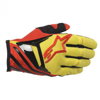 Мотоперчатки Alpinestars Techstar Yellow-Red-Black S