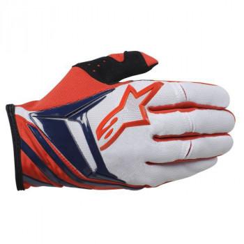 Мотоперчатки Alpinestars Techstar White-Red-Blue L