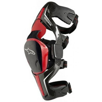 Мотонаколенник Alpinestars Carbon B2 Black-Red M (правый)