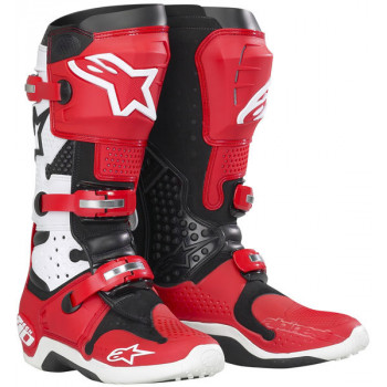 Мотоботы Alpinestars TECH 10 White-Red 9
