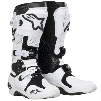 Мотоботы Alpinestars TECH 10 White-Black 8
