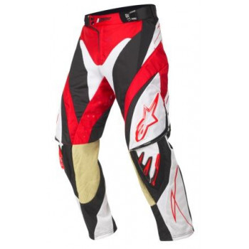 Мотоштаны Alpinestars Techstar White-Red-Black 30