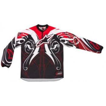 Кроссовая футболка (джерси) Alpinestars Charger Crusader Black-White-Red 2XL