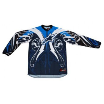 Кроссовая футболка (джерси) Alpinestars Charger Crusader Black-Blue-White 2XL