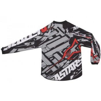 Кроссовая футболка (джерси) детская Alpinestars Youth Charger Blokz Black-White-Red L