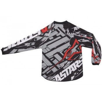Кроссовая футболка (джерси) детская Alpinestars Youth Charger Blokz Black-White-Red M