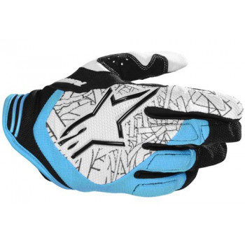 Мотоперчатки детские Alpinestars Youth Charger Balck-Blue-White 3XS
