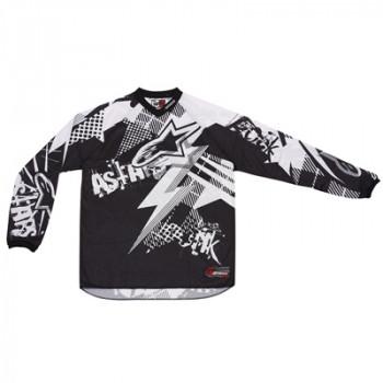 Кроссовая футболка (джерси) детская Alpinestars Youth Charger Punk Black-White L