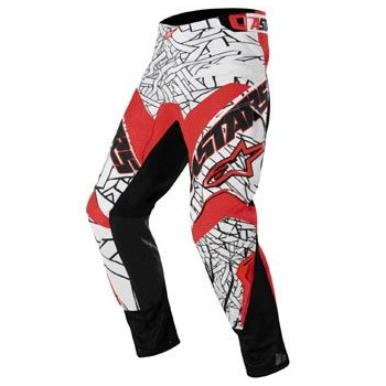Мотоштаны детские Alpinestars Youth Charger Black-White-Red 26