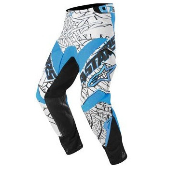 Мотоштаны детские Alpinestars Youth Charger White-Blue-Black 24