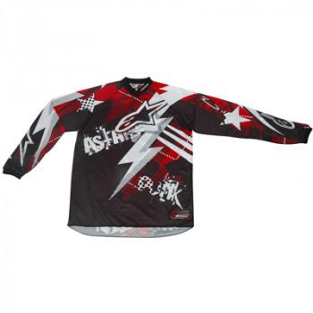 Кроссовая футболка (джерси) детская Alpinestars Youth Charger Punk Black-White-Red XL