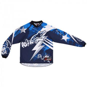 Кроссовая футболка (джерси) детская Alpinestars Youth Charger Punk Blue-White L