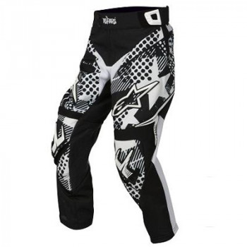 Мотоштаны детские Alpinestars Youth Charger Punk Black-White 24