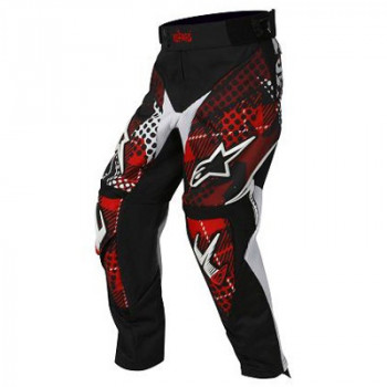 Мотоштаны детские Alpinestars Youth Charger Punk Black-White-Red 26