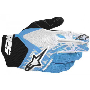 Мотоперчатки детские Alpinestars Youth Racer Black-Blue-White 3XS