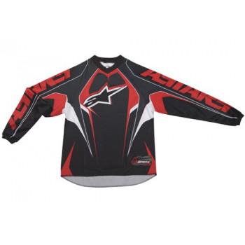 Кроссовая футболка (джерси) детская Alpinestars Youth Racer Black-Red-White XL