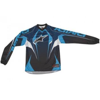 Кроссовая футболка (джерси) детская Alpinestars Youth Racer Black-Blue-White XL