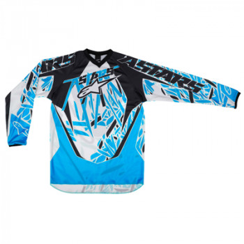 Кроссовая футболка (джерси) детская Alpinestars Youth Racer White-Blue-Black M