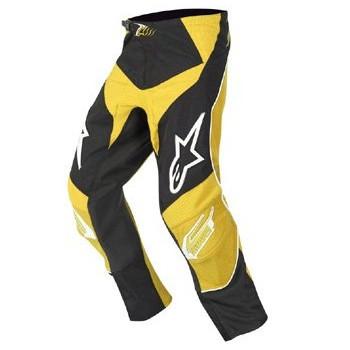 Мотоштаны детские Alpinestars Racer Black-Yellow 22
