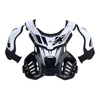 Моточерепаха детская Alpinestars Youth Storm Chest PR White-Black