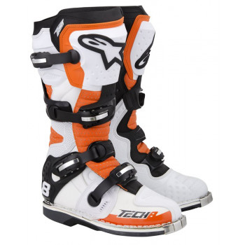 Мотоботы Alpinestars TECH 8 RS White-Orange 8.0