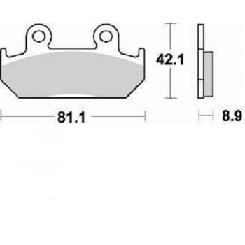 Колодки тормозные Braking BR 704SM1