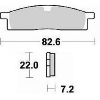 Колодки тормозные Braking BR 705CM44