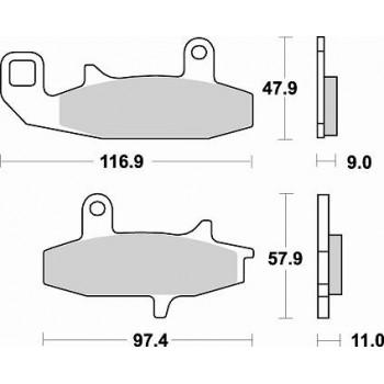 Колодки тормозные Braking BR 709SM1