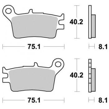 Колодки тормозные Braking BR 723SM1