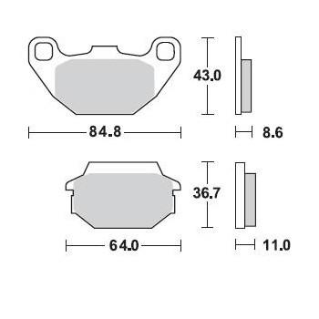 Колодки тормозные Braking BR 869SM1