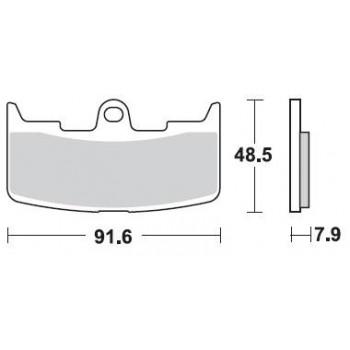 Колодки тормозные Braking BR 895CM55